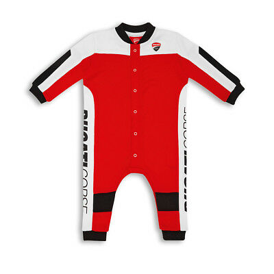 Ducati Corse Speed Baby Pyjama Romper Sleepsuit Overall Leather Suit Desig