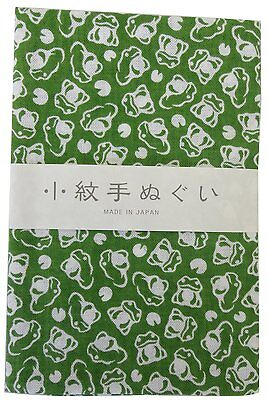 Japanese traditional towel TENUGUI KOMON FROG KAERU NEW COTTON MADE IN JAPAN