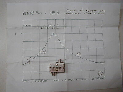 10.368GHz SMALL 2 pole BP filter SMA type, GREAT for ham work NOS MACOM Whitebox
