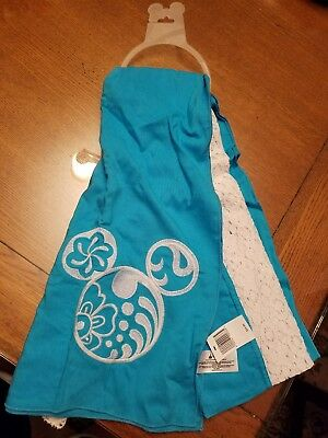 disney parks mickey mouse aqua scarf new with tag