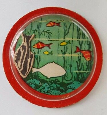 1957 Vintage Premium Cracker Jack Prize Toy Fish Magic Puzzle