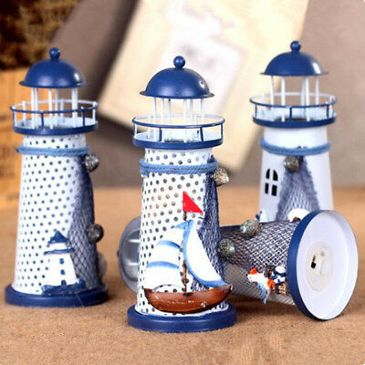 LED Flash Home Lighthouse Decoration Office Ocean Style Mediterranean 1 Pcs