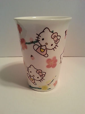 Hello Kitty Sanrio Japan Tall Collectible Ceramic Water Cup 2010
