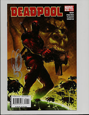 DEADPOOL Vol 2 #1 1st Print SIGNED SKULLS SECRET INVASION SAGA MARVEL B9
