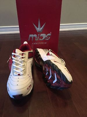 MIDS +MM Power Cricket Shoes - Red/White Color   - Size US 9