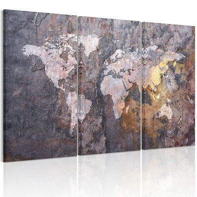 FRAMED Ready to Hang Canvas Prints Home Decor Wall Art Picture-Vintage World Map