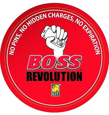 $5 BOSS REVOLUTION Digital Recharge RECARGA CREDIT APPLIED DIRECT TO YOUR PHONE