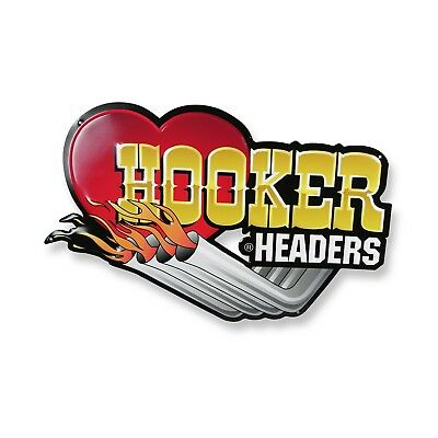 Hooker 10145HKR Hooker Headers 10145HKR Hooker Headers Metal Sign - 12 Inch Heig