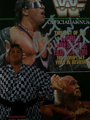 WWE WWF Signed Official Annual (multiple wrestlers signatures)