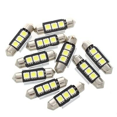 10 x 36MM Birnen Lampe 3 LED 5050 SMD CANBUS weisse Auto Haube Q4W5 N5T5
