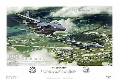 492nd Fighter Squadron F15E, RAF Lakenheath Digital Artwork