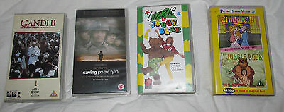 VHS Tapes-Gandhi/Saving Private Ryan/Cinderella & Jungle Bk