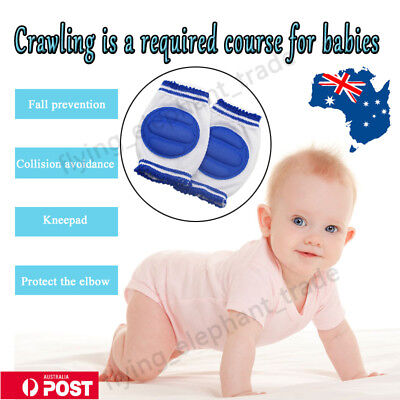 Baby Crawling Knee Pads Unisex Infant Toddler Safety Cushion Protector Pad AU