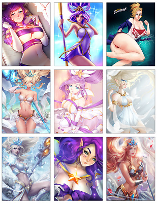 "LEAGUE OF LEGENDS - Janna 9-pc Stickers Set - 2.5""x3.25"" (PS4, XBOX, GAME)"
