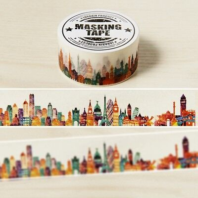 City Paris DIY Washi Masking Tapes Klebeband Klebebänder Papier Dekor Stickers