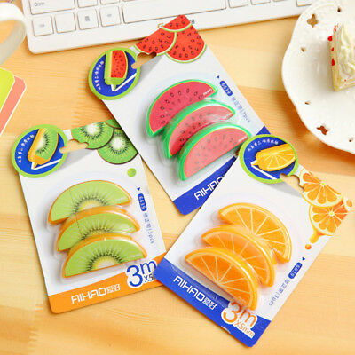 White Office Stationery School Cute Students Fruit Shape Study Correction Tape