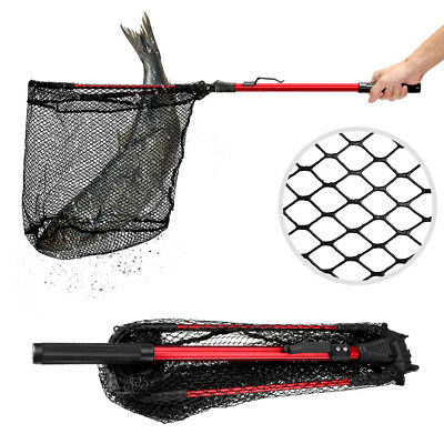 "Fishing Landing Net Lightweight Triangular Boating Folding Fish Net 16"" Width AU"