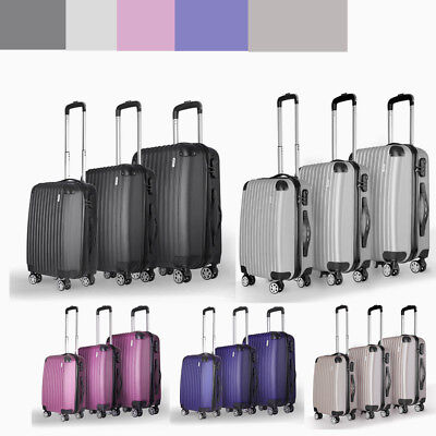Panana Set of 3 piece travel luggage wheel trolleys suitcase bag hard shell