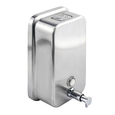 Soap Dispenser Wall Mounted Stainless Steel Lockable Liquid Pump Action Toilet