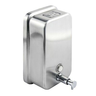 Soap Dispenser Wall Mounted Stainless Steel Vertical Liquid Pump Action Toilet