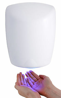 White Metal Hand Dryer Fast Electric Automatic Hot Warm Air Heavy Duty Dryers