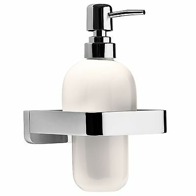 Pump Action Soap Dispenser Wall Mounted Chrome Bathroom Accessories Hand Lotion