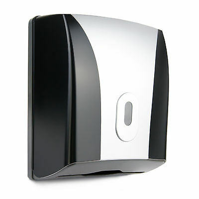 Paper Towel Dispenser Wall Mounted Compact Mini Design Toilet Bathroom Black