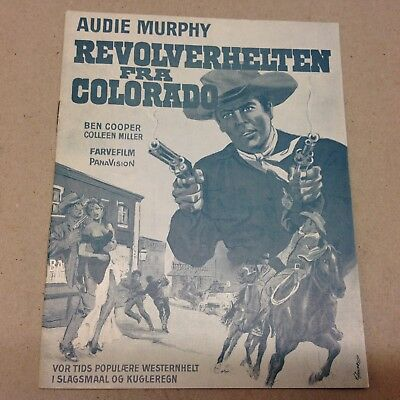 """Gunfight at Comanche Creek"" Audie Murphy Vtg 1963 Danish Original Movie Program"