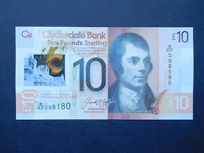 Clydesdale Bank £10 note - new polymer.