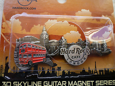 Hard Rock Cafe 2016 LONDON 3D SKYLINE-MONUMENTS SERIES GUITAR MAGNET Brand New