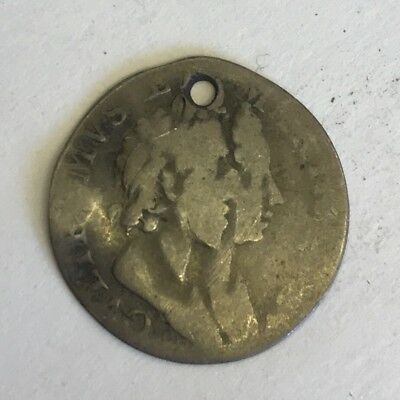 Antique William & Mary Threepence Three Penny 3p Silver 1689 Coin