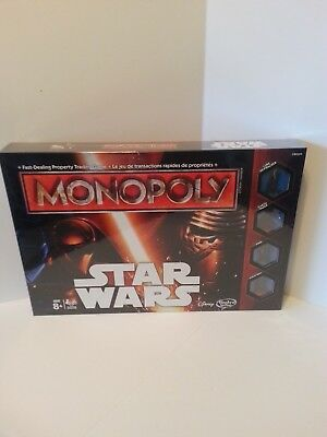 Star Wars 2015 The Force Awakens Monopoly Board Game New And Sealed