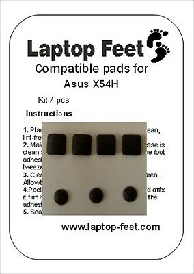 Laptop rubber feet  for Asus  X54H compatible kit (7 pcs self adhesive by 3M)