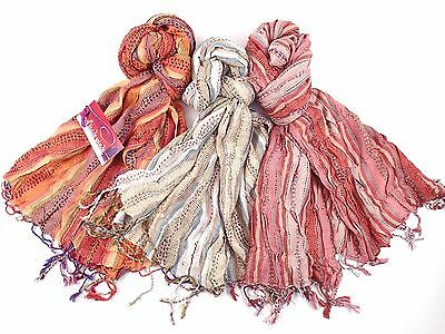 100 LADIES SCARVES SCARF JOB LOT Boho, Hippy, Market, Xmas Wholesale Cheap