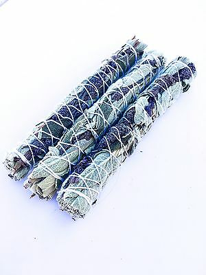 💚💜1 SAGE & LAVENDER -WILD AND ORGANIC -With Lavender - Smudge Stick- Incense 1