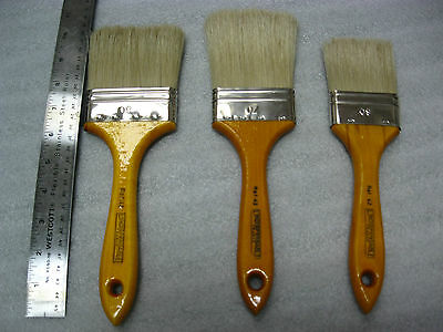 3-New Vintage L'INDISPENSABLE Paint Brushes  Size 60mm-70mm-80mm  Made in France