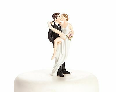 """Over the Threshold"""" Wedding Bride and Groom Cake Topper Figurine"""