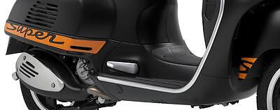 Genuine Piaggio Vespa GTS Super Sport Complete 'Super' Decal Set - Orange & Blk
