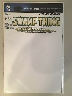 Swamp Thing #14 Blank Variant - New 52 Snyder