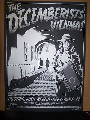 THE DECEMBERISTS VIENNA!- POSTER- Silk Screen poster by Stainboy-#5/360
