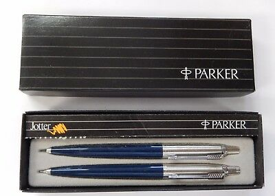 *New Old Stock* Parker Blue Jotter Ball Point & 0.5mm Pencil Set