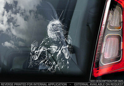 Iron Maiden 'Killer Eddie'- Car Window Sticker - Life After Death Skeleton - v07
