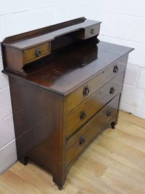 Edwardian Mahogany Chest Of 3 Drawers Formally A Dressing Table.