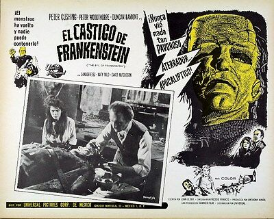 Hammer Horror -  The Evil Of Frankenstein - Lobby Card #6
