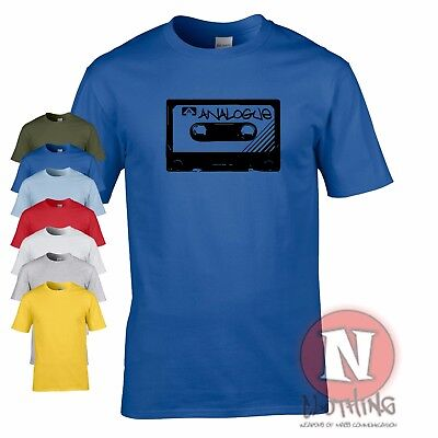Analogue cassette t-shirt rave music house cool old school retro tape tee tshirt