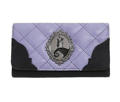 Disney The Nightmare Before Christmas Jack & Sally Quilted Spiral Hill Wallet