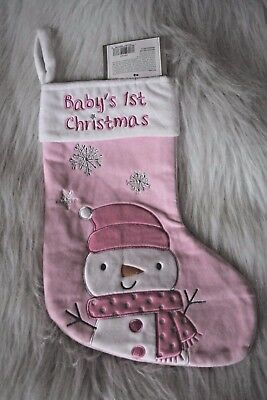 Baby's 1st Christmas Pink Stocking