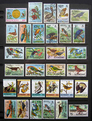 ST VINCENT Large Bird Stamp selection with high values. Mint & Used