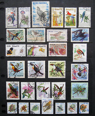 BRAZIL Large Bird Stamp selection. Used