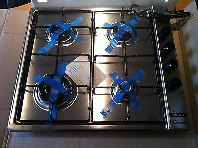 Brand New Candy Range 4 Stainless Steel Gas Hob 60cm
